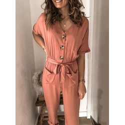 Womens fashion casual jumpsuit RY85