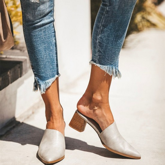 2019 Casual Fashion Artificial Leather Mules Sandal