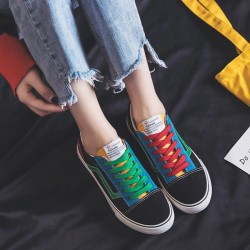 Women's Fashion Casual Trend Color Matching Canvas Sneakers