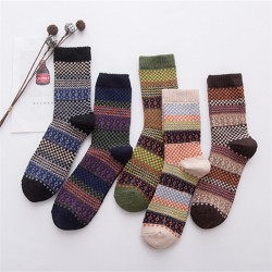 Vintage ethnic style comfortable striped socks