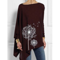 Printed Round-neck Long-sleeved T-Shirt