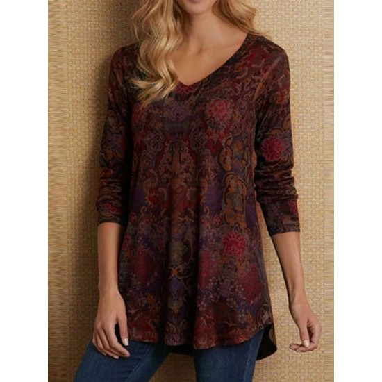 Womens T - shirt with long sleeve and v-neck DWQ01