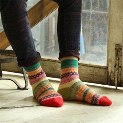 Retro ethnic style tube socks