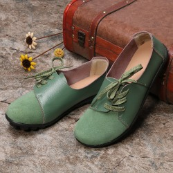 Women's casual wild lace-up shoes