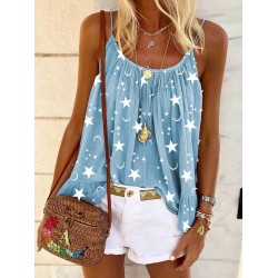 Star Printed Casual Camisole