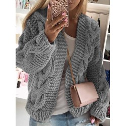 Bold Thread Twist Knitted Cardigan