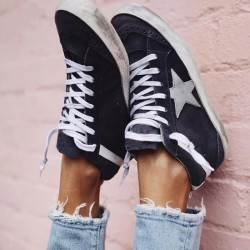 Women's Retro distressed old dirty shoes