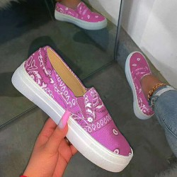 Women's round head casual satin sneakers