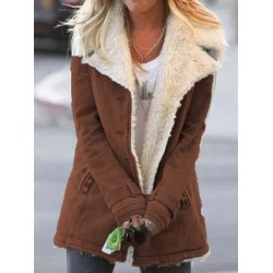 Long-sleeved plus fleece warm cotton jacket