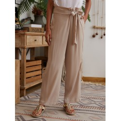 Womens casual lace-up trousers