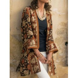 Ethnic Printed Pocket Cardigan