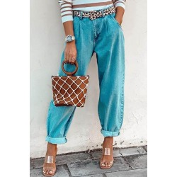 Fashion loose straight jeans trousers