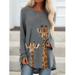 Animal Print Long Sleeve T-shirt