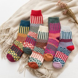 Ethnic Style Thick Warm Cashmere Socks