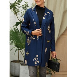 Women Abstract Print Outerwear