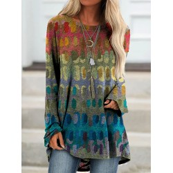Floral-Print Long Sleeve T-Shirt