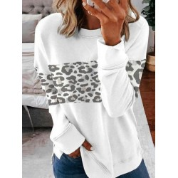 Women Leopard Casual Sweatshirt