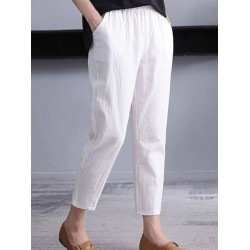 Loose Cotton And Linen Casual Pants