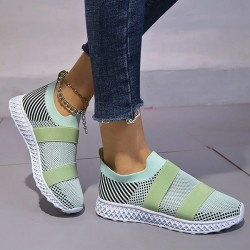 Women's Fashion Color Matching Fly Weave Sneakers