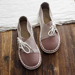 Womens round-toe casual comfortable flat shoes